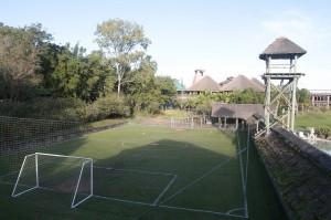 Una de las canchas del Hotel Vila Ventura donde entrenará Ecuador.
