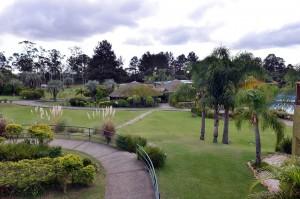 Áreas verdes del hotel Vila Ventura.