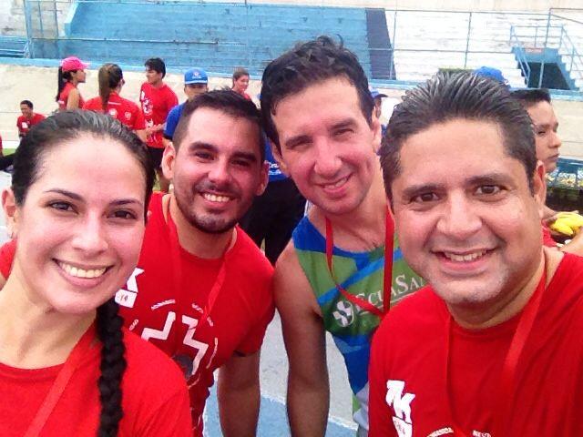 Gabriela Icaza, Manuel Abad, Guillermo Tacle y Cristóbal Mantilla. Foto: @cmanti