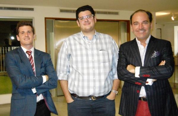 Daniel Chavarría, Marco Angelo Ottati y Carlos Wilson.