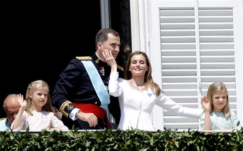 Felipe y Letizia balcón