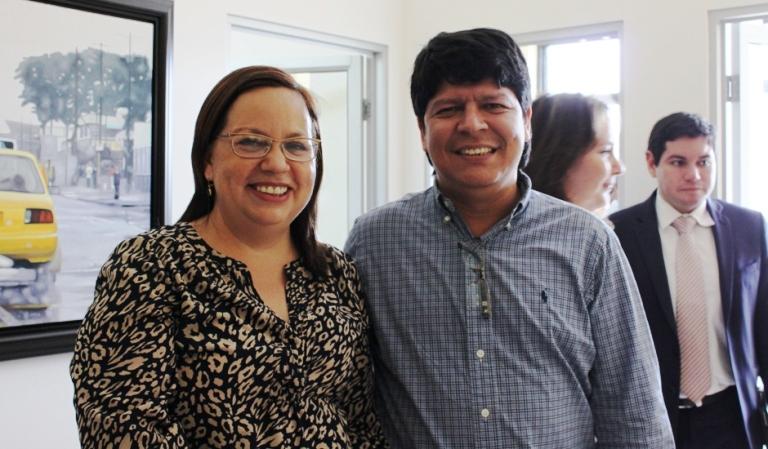 Gisella Raymond, editora de la revista América Economía y Marlon Puertas, Editor General de LaRepública.