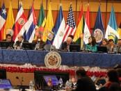 Sesión de la Organización de Estados Americanos. Foto de Archivo, La República.