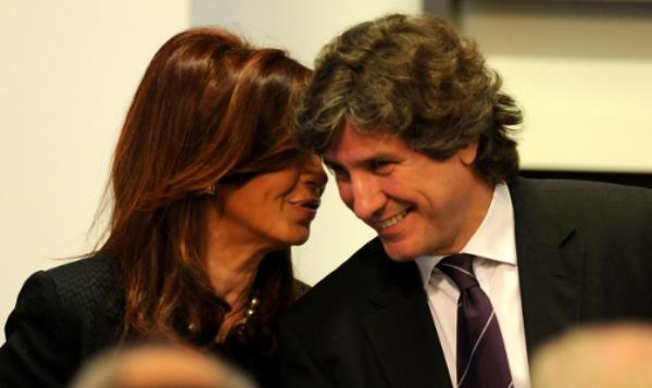 La presidenta argentina Cristina Kirchner y el vicepresidente Boudou.