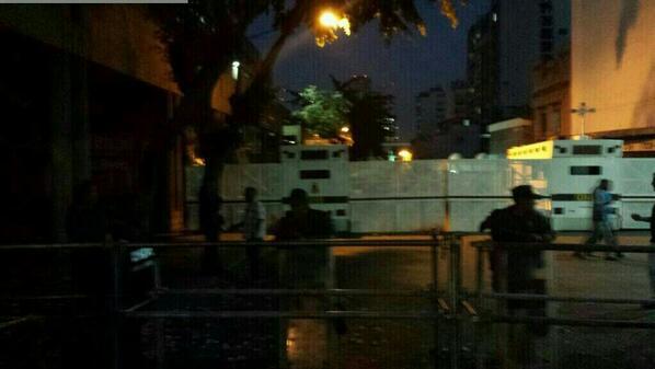 Los exteriores del tribunal donde se juzga a Leopoldo López.