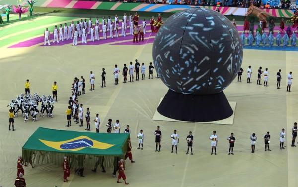 Un momento de la gala de inauguración del Mundial. EFE/Mauricio Dueñas