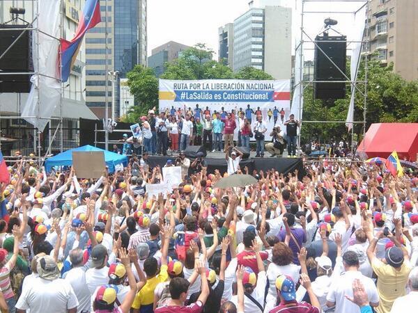 Plaza Brion, en Caracas, la mañana del domingo 8 de junio de 2014.