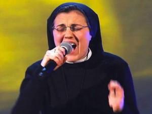 Sor Cristina, cantante. Foto de Archivo, La República.