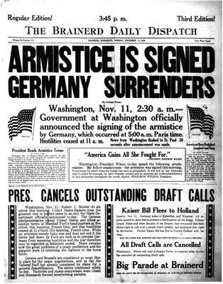 Armisticio de la I Guerra Mundial