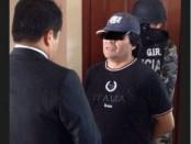 Carlos Figueroa, sentenciado a seis meses de prisiòn por injuriar a Rafael Correa, fue detenido hoy en Quiot.  Foto: Ministerio del Interior.