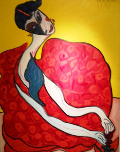 González Guzmán 015 mujer roja 2