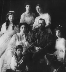 Nicolás II de Rusia y su familia.