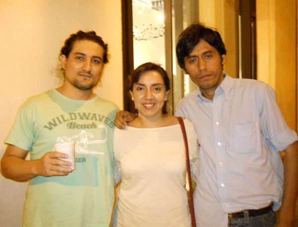 Jorge Oña, Gabriela Fabre y René Ponce