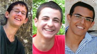 Eyal Yifrah, de 19 años, Gilad Shaar de 16, y Naftali Fraenkel, de 16, fueron encontrados muertos.