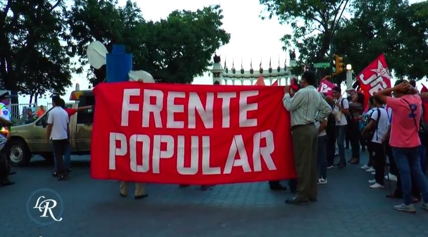 Protesta de trabajadores, en Guayaquil, el 18 de julio de 2014.