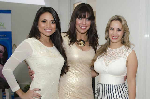 Nathaly Castro, Cecilia Niemes y María del Mar Proaño.