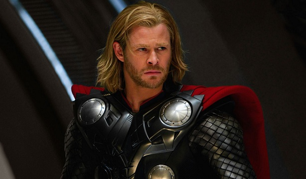 El actor Chris Hemsworth, que personificó a Thor, en el último film de Marvel.