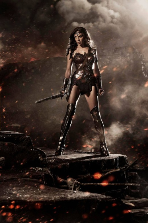 Gal Gadot como Wonder Woman.