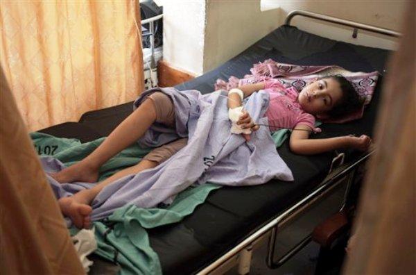 Niño palestino herido