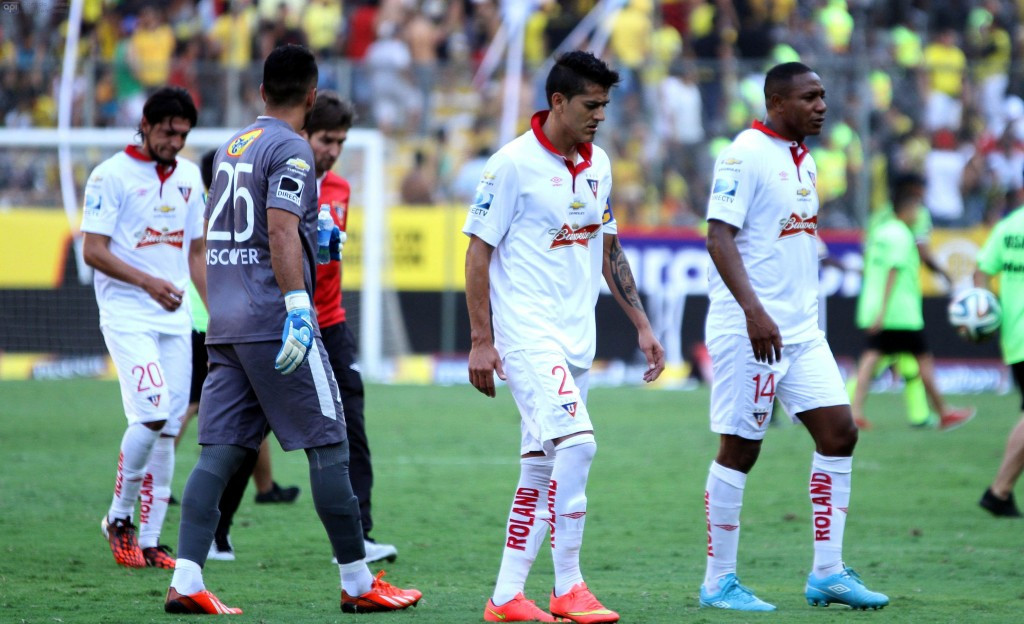 Guayaquil 31 de agosto del 2014 Barcelona enfrenta a Liga de Quito en el estadio Monumental Foto:API/Duham