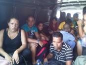 Cubanos capturados en El Salvador, huyendo de Venezuela. Foto tuiteada por El Migueleño. Agosto 9 de 2014.