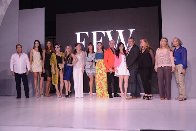 Diseñadores del EFW junto a Cecilia Niemes.