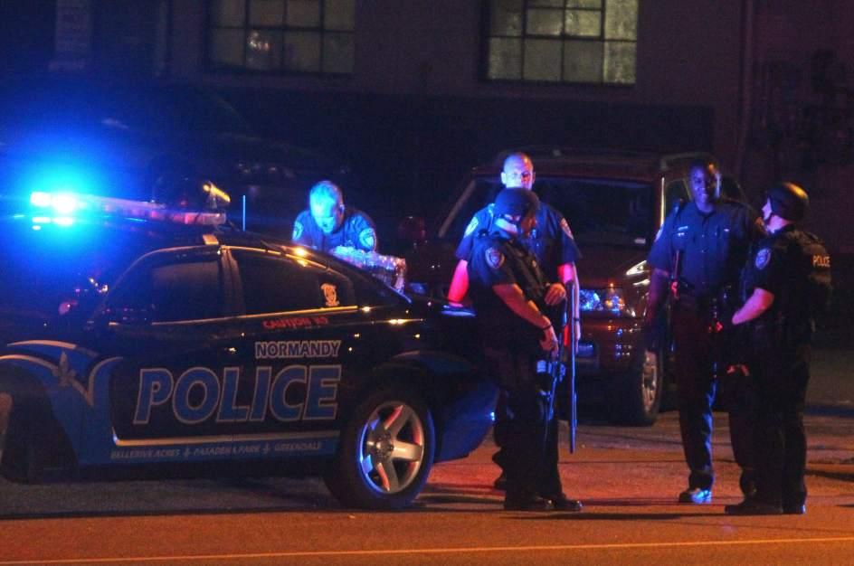 La policía de Ferguson.
