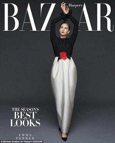Ferrer posando para la revista Harper's Bazzar