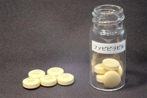 Foto sin fecha proporcionada por Fujifilm Holdings Corp. donde se ven tabletas fabipiravir, un medicamento para la influenza. Japón dijo el 25 de agosto de 2014 que está listo para ofrecer este fármaco de fabricación local como potencial tratamiento para el ébola. (Foto AP/Fujifilm Holdings Corp.)