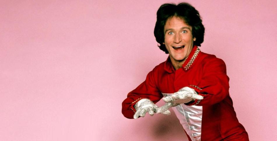 """Robin Williams, en el programa deTV """"Mork & Mindy"""", de 1978."""