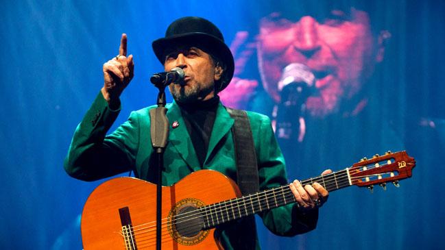 El cantautor español Joaquín Sabina se presenta en el Movistar Arena