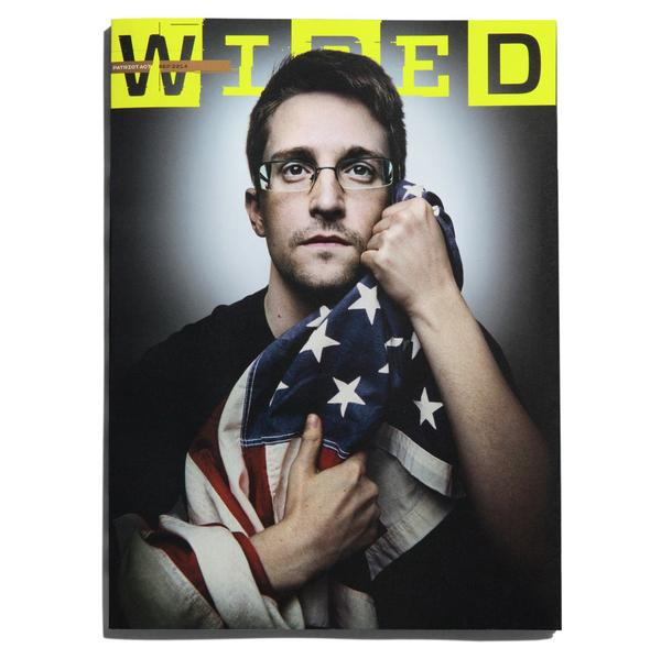 Edward Snowden portada de Weird Magazine.