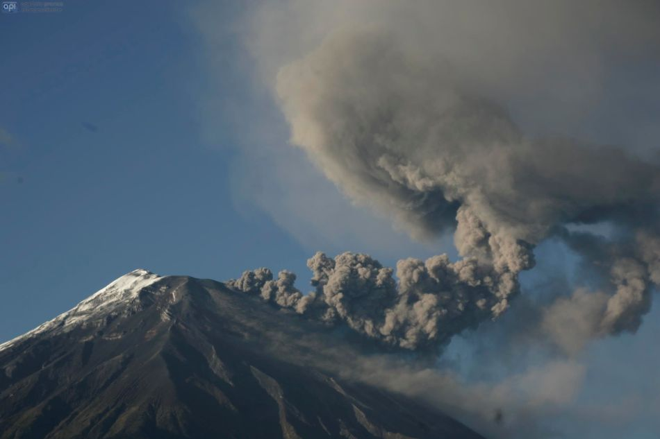 Tungurahua, 31 de agosto de 2014. API/Carlos Campaña