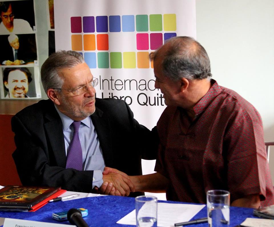 José Carreño y Francisco Velasco VII edición de la Feria Internacional del Libro de Quito 2014