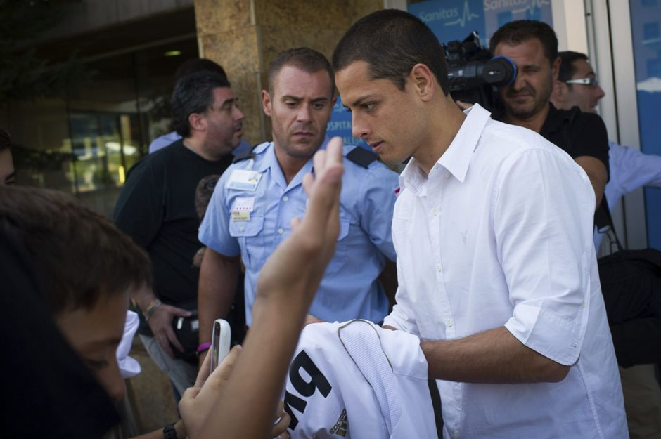 chicharito hernandez real madrid