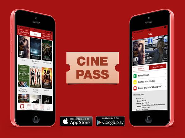 Descarga Cinepass en tu tienda de apps favorita.