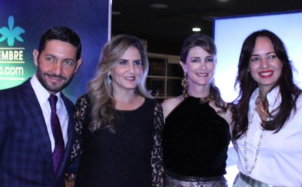La organizadora del Festival, Daniela Creamer y los diseñadores Gustavo Moscoso, Olga Doumet y Doménica Tabacchi.