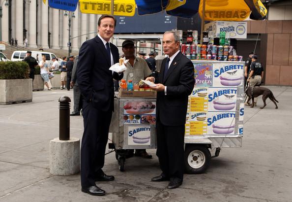 David Cameron y Michael Bloomberg.