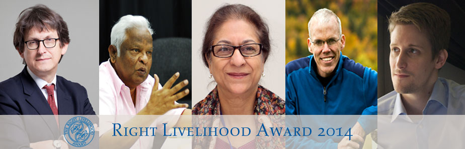 Right Livelihood Award 2014