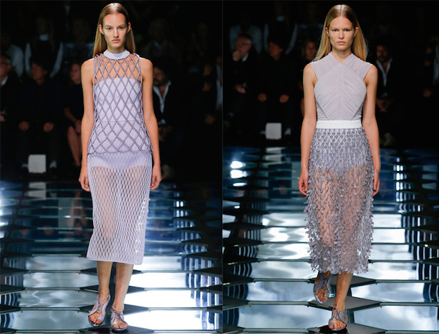 Modelos muestran la colección de Balenciaga en la Semana de la Moda de París.