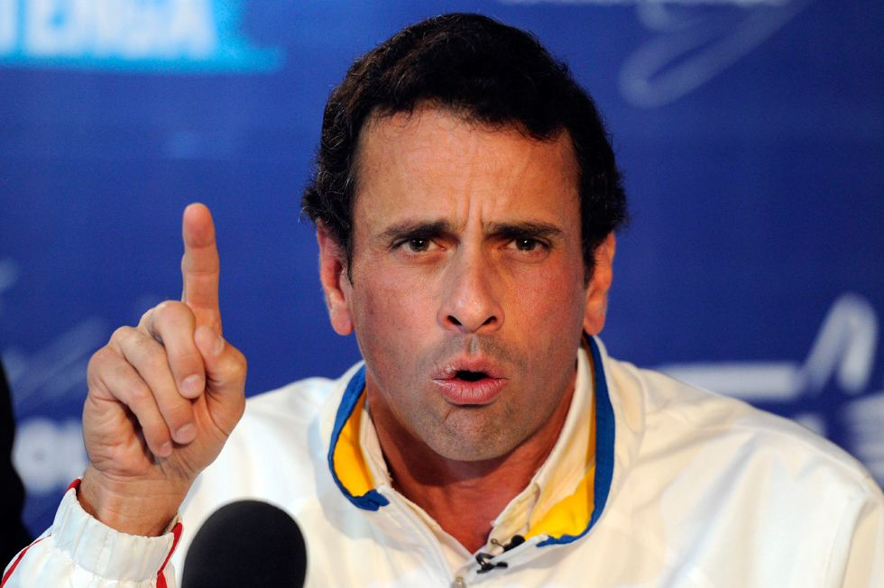 Henrique Capriles, gobernador de Miranda y líder de la oposición venezolana. Foto de Archivo, La República.