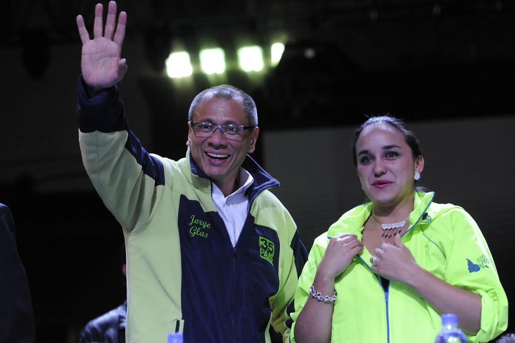 Jorge Glass vicepresidente de la República y Gabriela Rivadeneira, presidenta de la Asamblea Nacional.