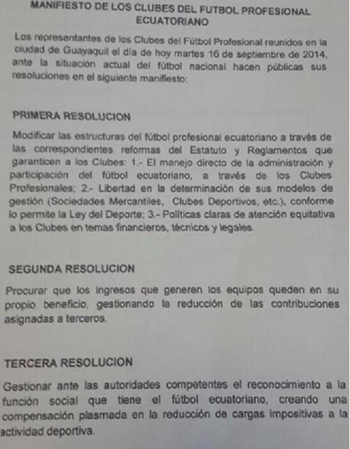 manifiesto presidentes clubes 1