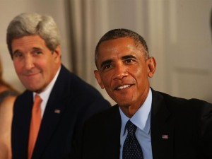 Barack Obama y John Kerry EFE/Spencer Platt