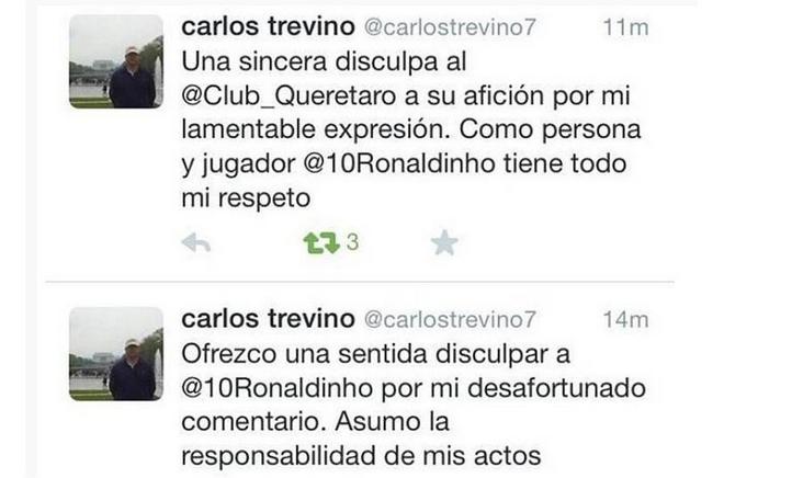 tweet politico mexicano ronaldinho