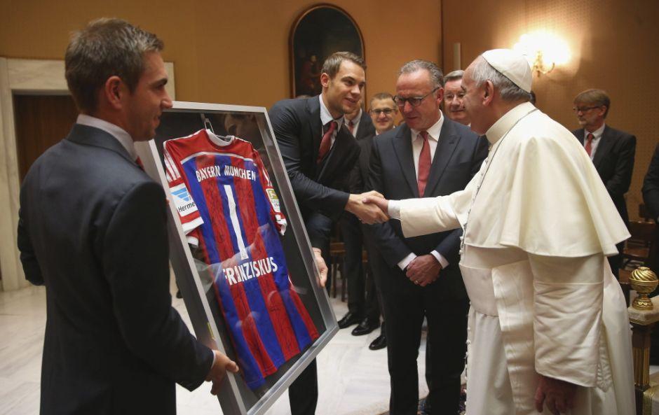 Bayern Múnich visita papa Francisco.