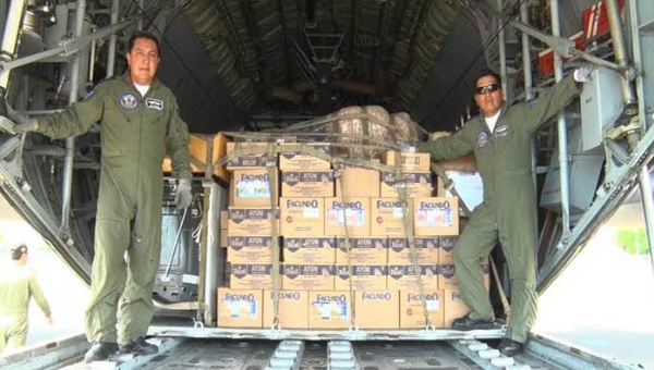 El cargamento fue entregado a las autoridades del estatal Sistema Nacional para la Prevención, Mitigación y Atención de Desastres (Sinapred). (Foto: El Pueblo Presidente)