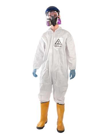 """En esta imagen difundida por Brands On Sale, Inc., un disfraz de """"traje de contención de ébola"""". (AP Foto/Brands On Sale, Inc.)"""