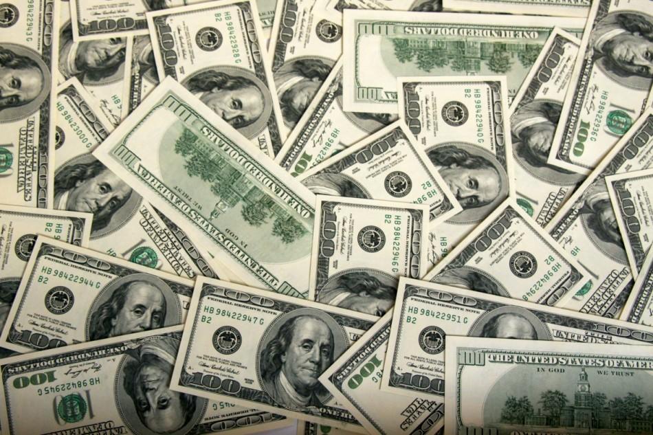 dólares para el dinero es depositado