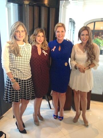 Doménica Tabacchi, Tiffany Alemán, Poly Ugarte y Susana González.